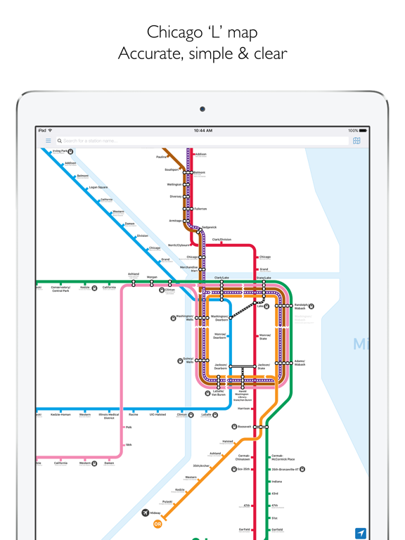 Nyc Mta Subway Map Trip Planner.Chicago L Metro Map With Route Planner App Price Drops
