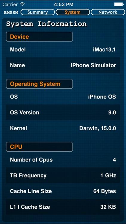 Battery Memory System Status Monitor