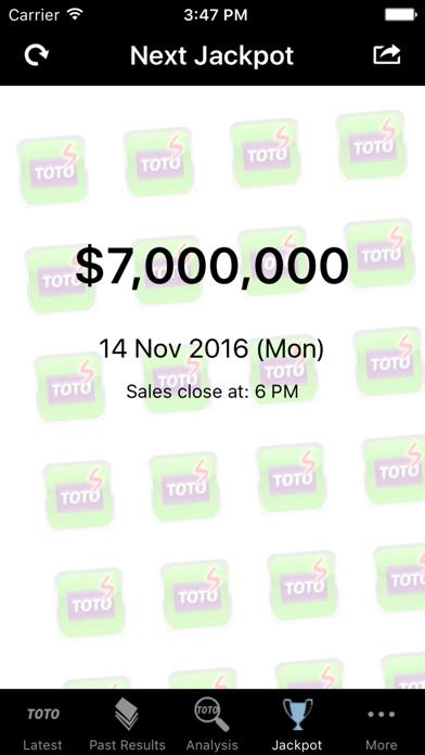 SG Toto - Revenue & Download estimates - Apple App Store - Singapore