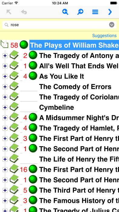 Plays of William Shakespeare TurboSearch screenshot one
