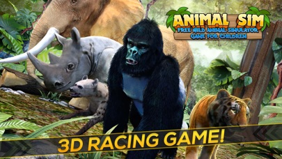 Animal SIM . Wild Animal Simulator Game Free Screenshot on iOS