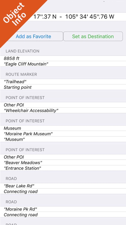 Rocky Mountain National Park - GPS Map Navigator