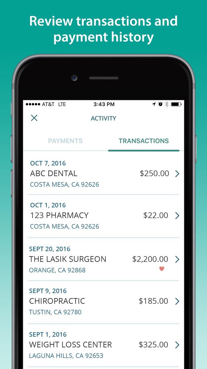 CareCredit Mobile App Screenshot
