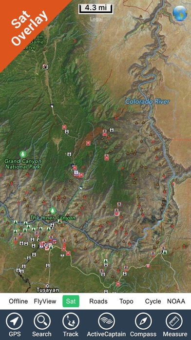 Grand Canyon National Park - GPS Map Navigator screenshot three