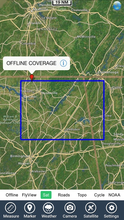 Guntersville lake map GPS fishing charts offline screenshot-4