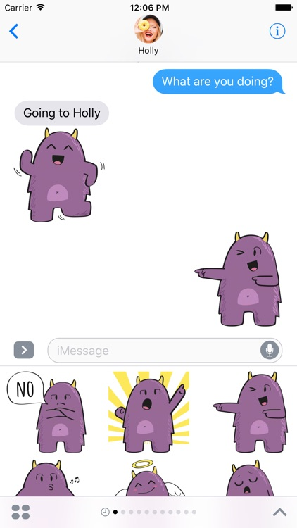 Purple Derp – Monster Stickers