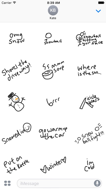 Winter snow sticker pack -  stickers for iMessage