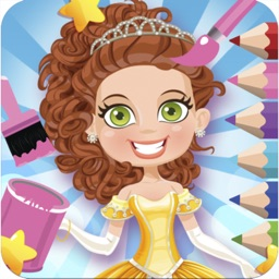 Princess Book Drawing And Coloring Game For kids