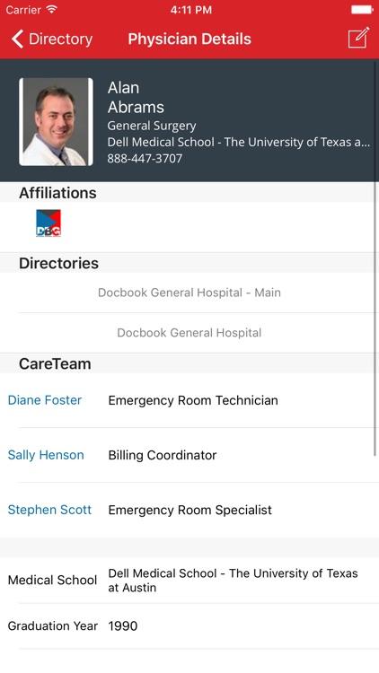 DocbookMD, HIPAA-secure messaging screenshot-4