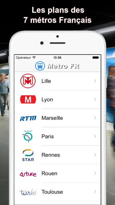 Screenshot #1 pour Metro FR - Paris, Lille, Lyon