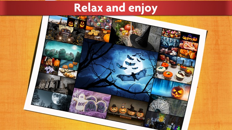 Halloween Puzzles - Relaxing photo picture jigsaw puzzles for kids and adults screenshot-4