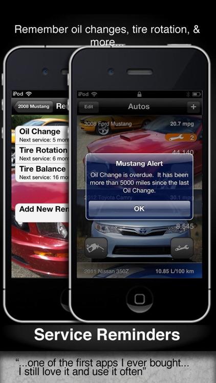Car Care - fuel economy & service tracking screenshot-4