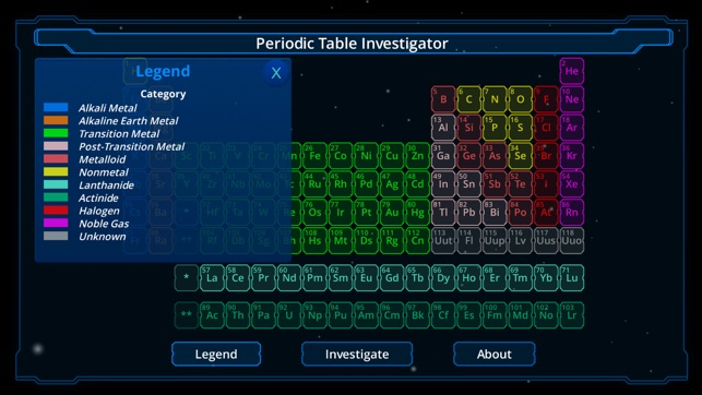 Periodic table investigator on the app store urtaz Image collections
