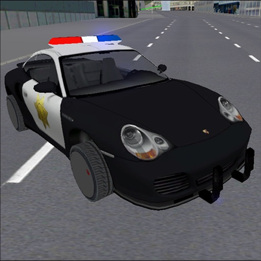 Fast Police Car Criminal Chase