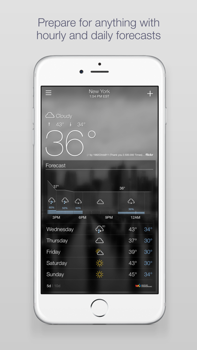 Yahoo Weather screenshot three