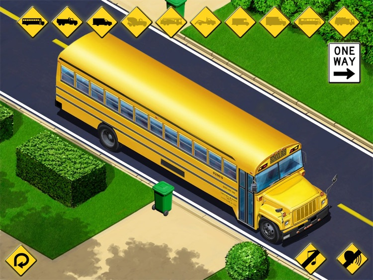 Kids Vehicles: City Trucks & Buses HD Lite screenshot-2