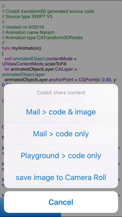 CodaX transform 3D for Xcode screenshot-4