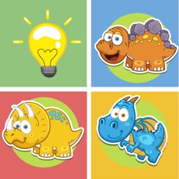 Dinosaur animals matching remember game preschool