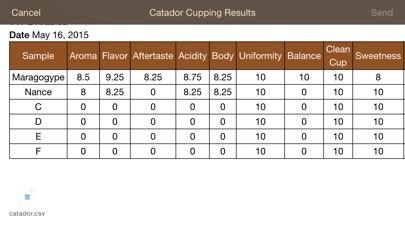 Catador Cupping app image