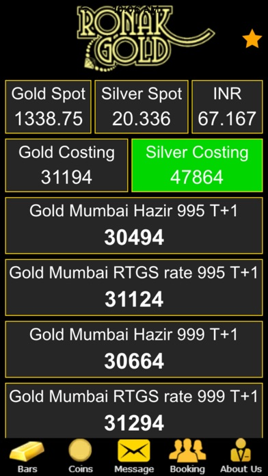 Screenshot 5 For Ronak Gold Bullion Live Rates