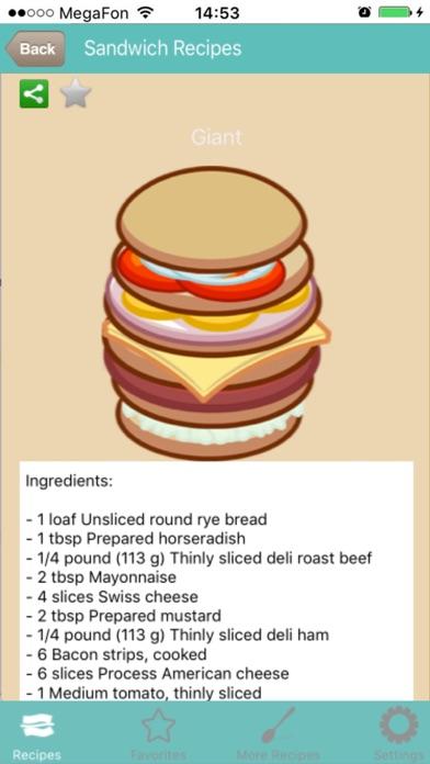 Sandwich RezepteScreenshot von 1