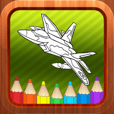 Activities of Airplane Vehicles Kids Coloring Books Games Free