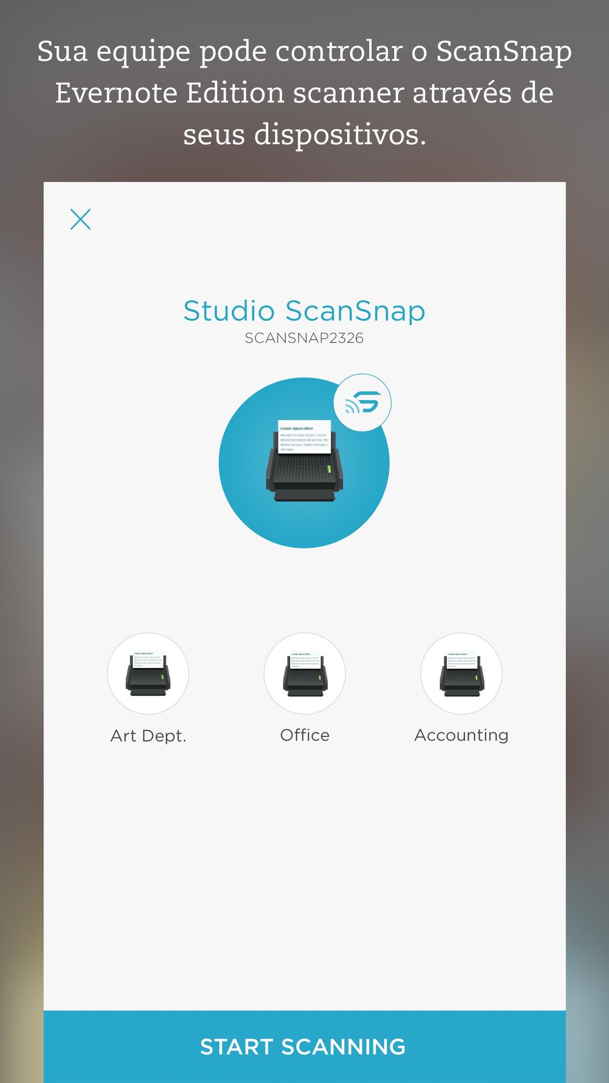 Screenshot do app Evernote Scannable