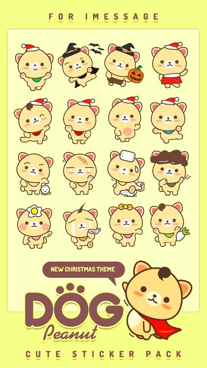Peanut Dog Sticker - Cute Emotional & Xmas Emoji