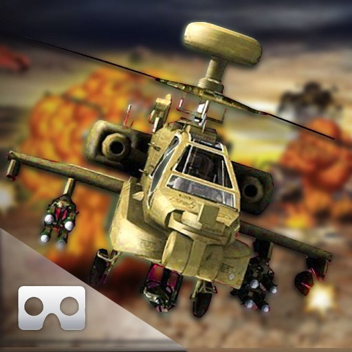 VR Helicopter War-Zone : Gun-ship Covert Attack 3D icon