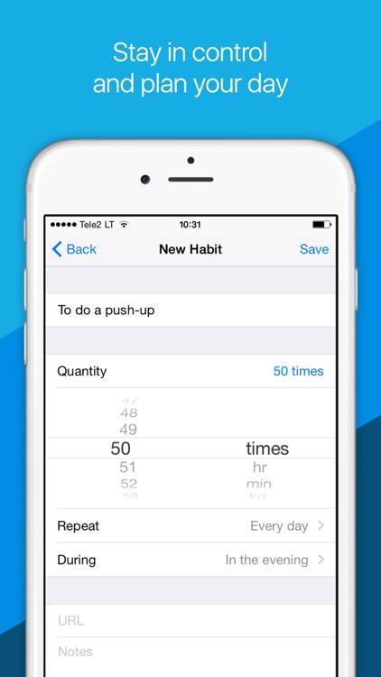 Motivateo — daily routine, goals & habits tracker. screenshot-3