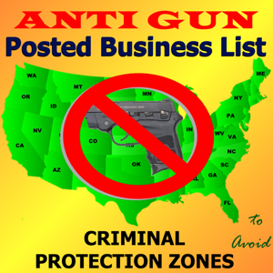 Posted! - Carry List Anti-Gun Locations app