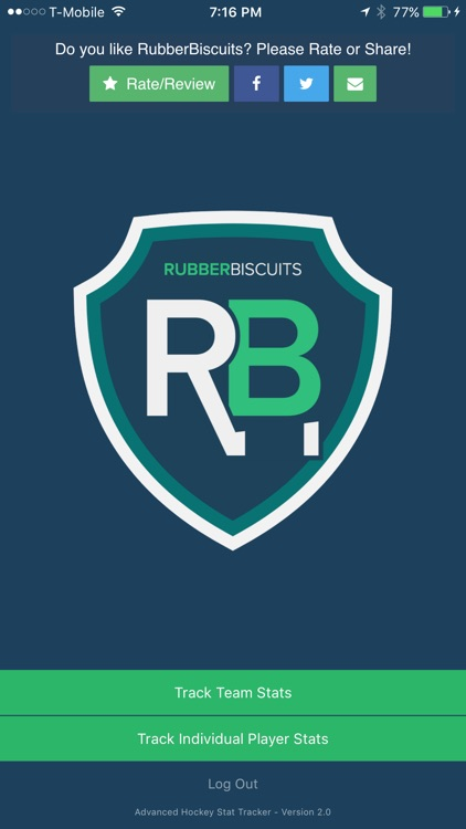 RubberBiscuits - Advanced Hockey Stat Tracker