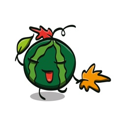 Watermelon Stickers - Funny Emoji