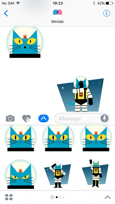 Astro Cat Stickersのスクリーンショット1