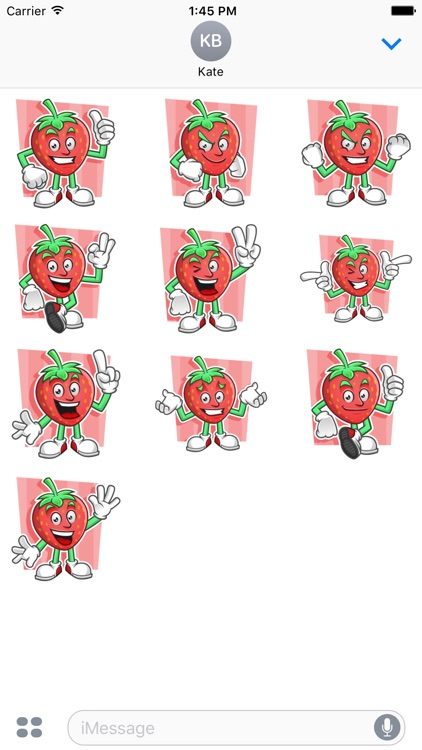 Funny Strawberry Stickers Vol 01
