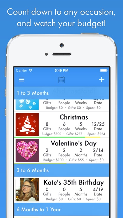 Dating organizer app