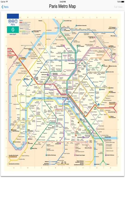 Paris France subway maps