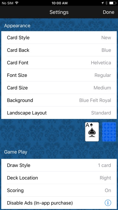 Solitaire Classic Скриншоты6