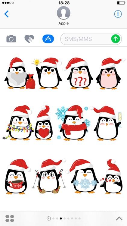 Christmas Penguins 2017 - fun stickers screenshot-3
