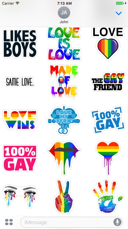 Gay - Stickers for iMessage screenshot-3