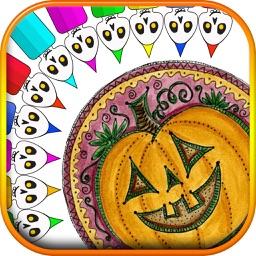 Halloween Mandala Coloring Book
