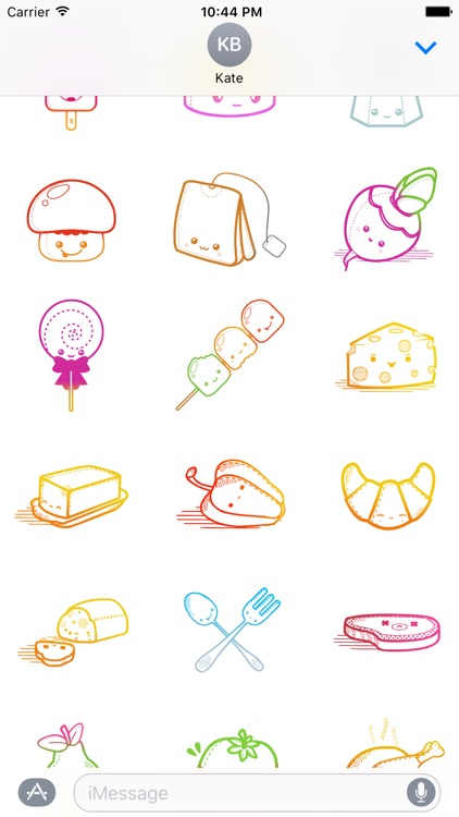 Foodmoji - Cute Funny Food, Fruit & Cake Stickers