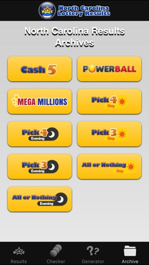 North Carolina Lotto Results on the App Store