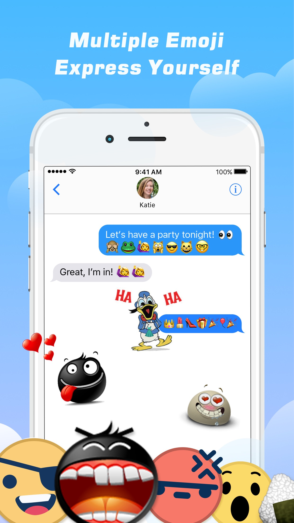 Emoji Free – Emoticons Art and Cool Fonts Keyboard Screenshot