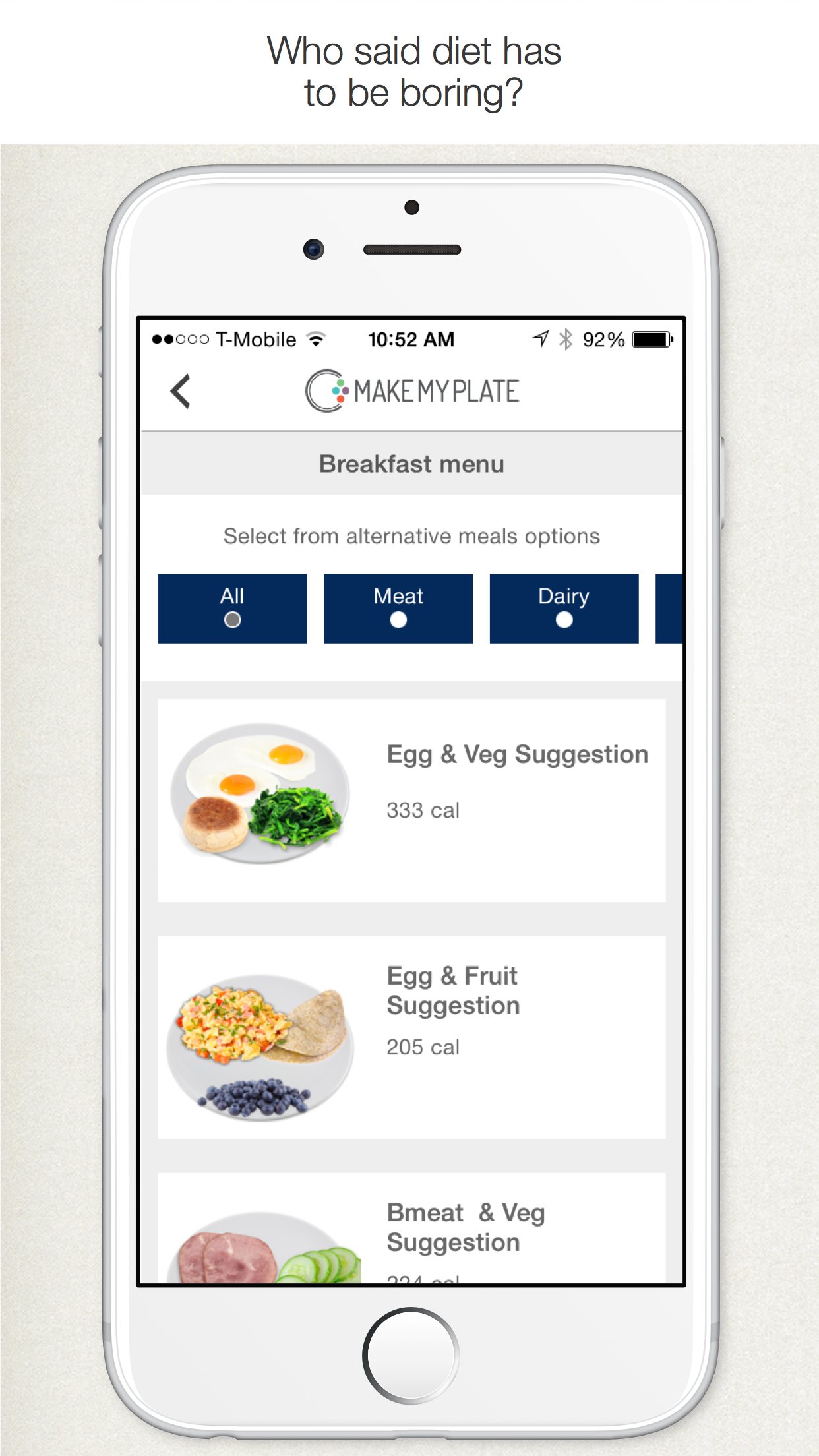 MakeMyPlate - Weight loss & healthy diet meal plan Screenshot