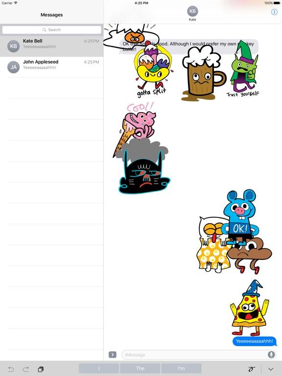 Screenshot #1 for Burgerworld stickers