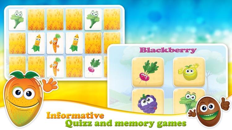 Veggies & Fruits: kids educational games - English