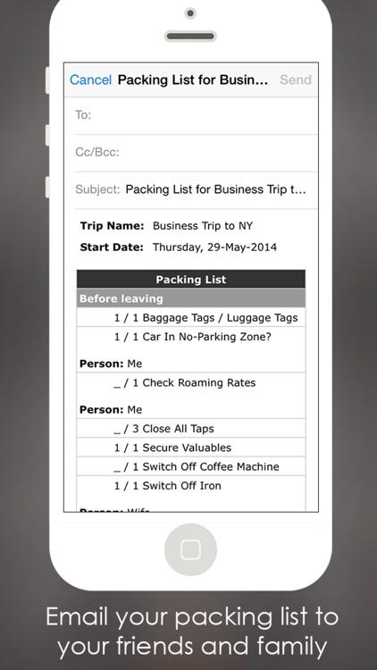Packing Planner PRO- Travel List for Trip Advisor screenshot-3
