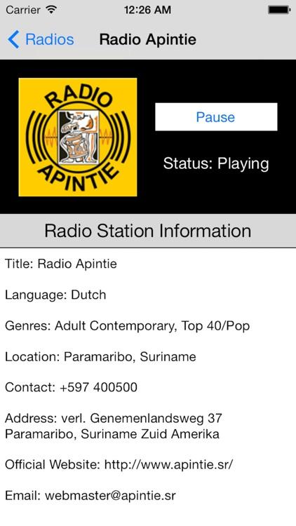 Suriname Radio Live Player (Paramaribo / Dutch) screenshot-4