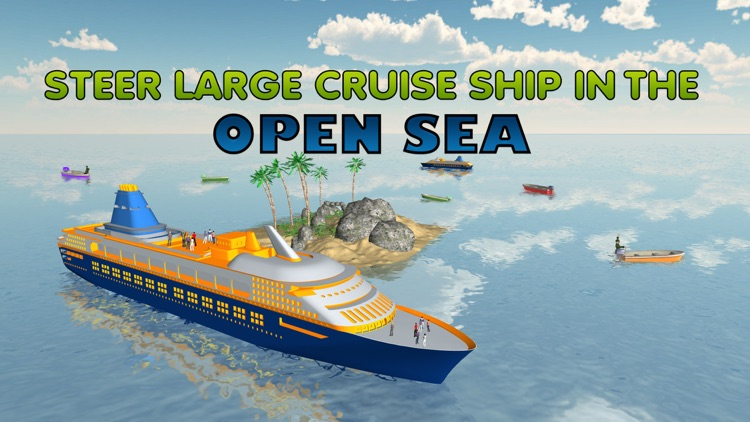 Cruise Ship Simulator 3D – Sail mega boat on sea to pick & drop passengers from Island
